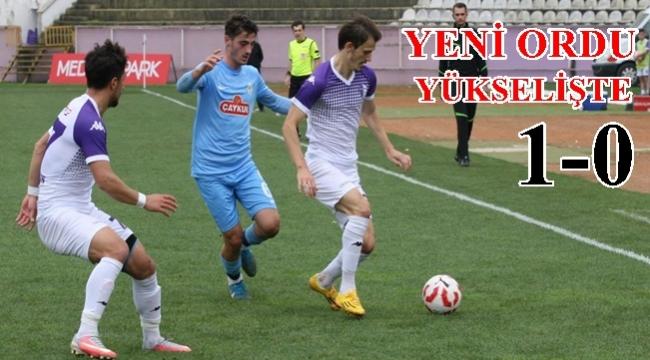 Yeni Orduspor  Pazarspor'u tek golle geçti; 1-0