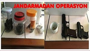 Kaçak silah ve uyuşturucu yakalandı