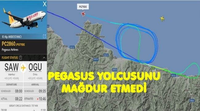 Pegasus yolcuları mağdur etmedi