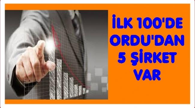 Türkiye'nin 'en parlak' 100 şirketi arasında Ordu'dan hangi şirketler var