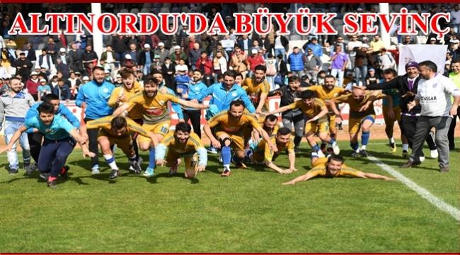 Fatsa kazandı Altınordu Belediyespor Bölgesel Amatör Lig'e yükseldi