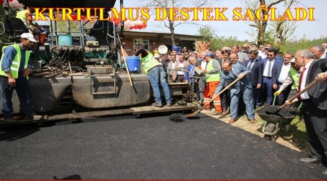 Karadağ Kanyonu'nun yolu asfaltlanıyor
