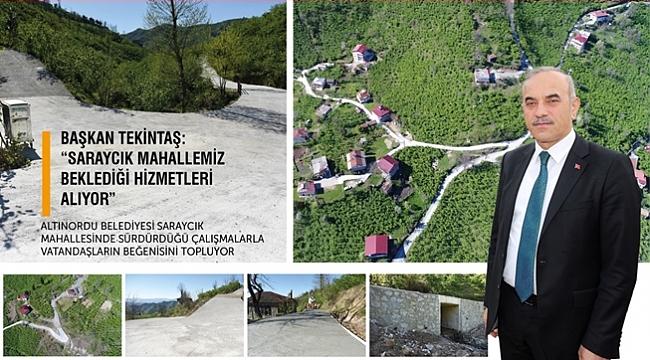 Tekintaş: Saraycık'a hizmet yaptık