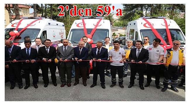 Tam donanımlı 3 adet ambulans hizmete girdi