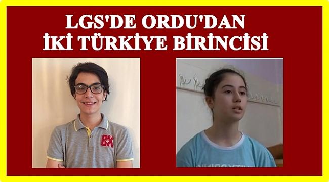 Ordulu Efe Keleş ve  Akbel Aydın LGS'de Türkiye 1. oldu