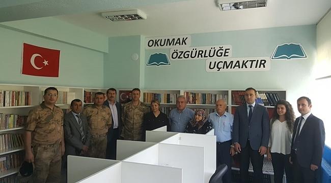 Şehit Astsubay adına kütüphane açıldı