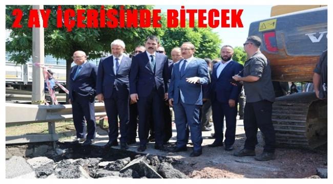 Çevre ve Şehircilik Bakanı Murat Kurum sel afetini yerinde inceledi