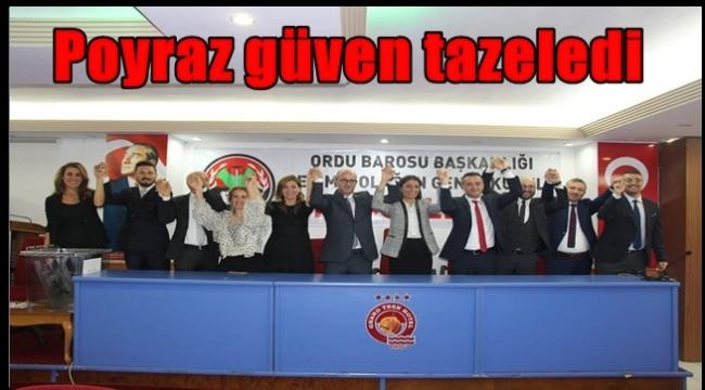 Ordu Barosu Başkanlığına Av. Haluk Murat Poyraz yeniden seçildi