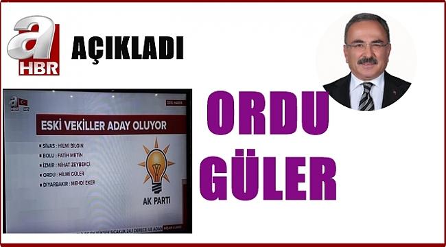 AK Parti'nin Ordu Büyükşehir Belediye Başkan adayı belli oldu mu?