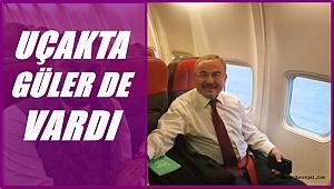 Güler'in içerisinde olduğu uçağa yıldırım isabet etti