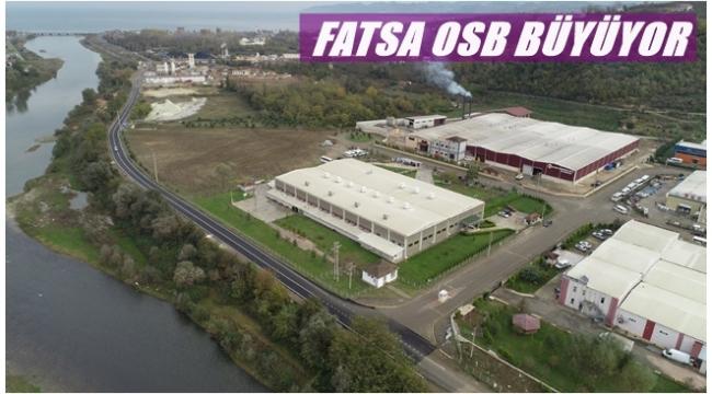 Ordu Büyükşehir Belediyesi'nden Fatsa OSB'ye büyük katkı