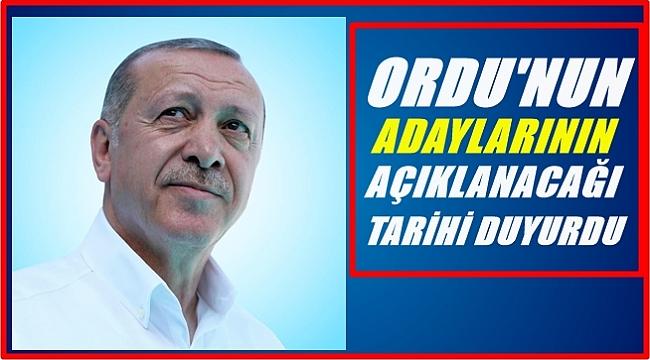 AK Parti'nin Ordu adaylarının açıklanacağı tarih belli oldu