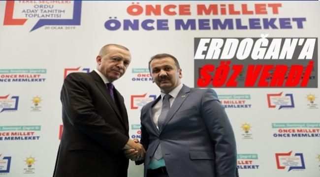 Başkan Kiraz Cumhurbaşkanı Erdoğan'a verdiği sözü açıkladı