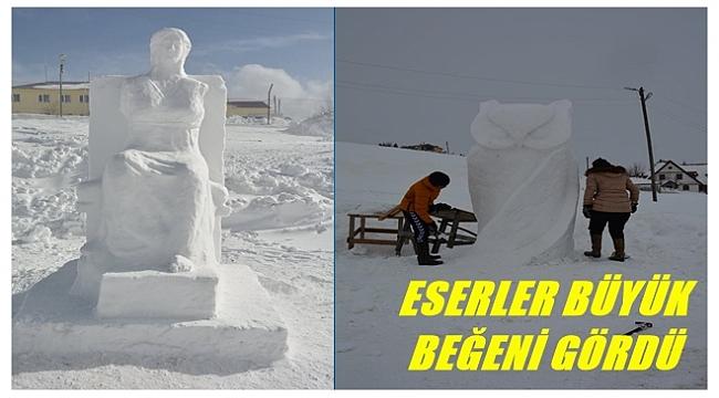Çambaşı'nda Kar Heykel Çalıştayı düzenlendi
