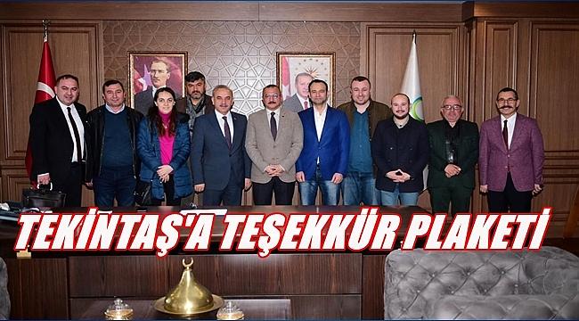 Gazetecilerden Tekintaş'a ziyaret