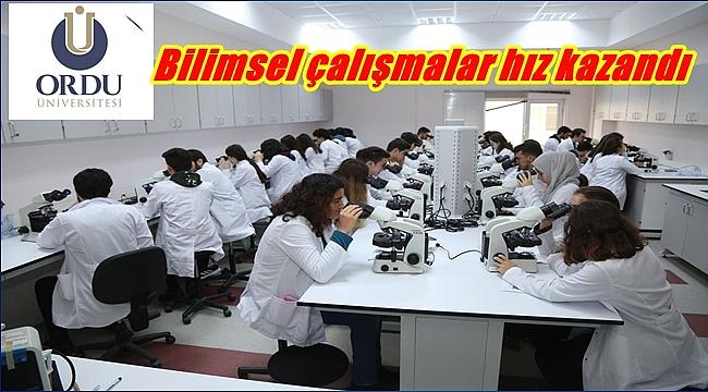 Ordu Üniversitesi'nde laboratuvar sayısı 152'ye ulaştı