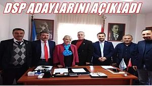 DSP Büyükşehir ve 6 İlçe adayını açıkladı