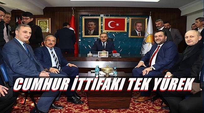 MHP YÖNETİMİ AK PARTİ'Yİ ZİYARET ETTİ