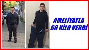 Obezite ameliyatıyla 60 kilo verdi