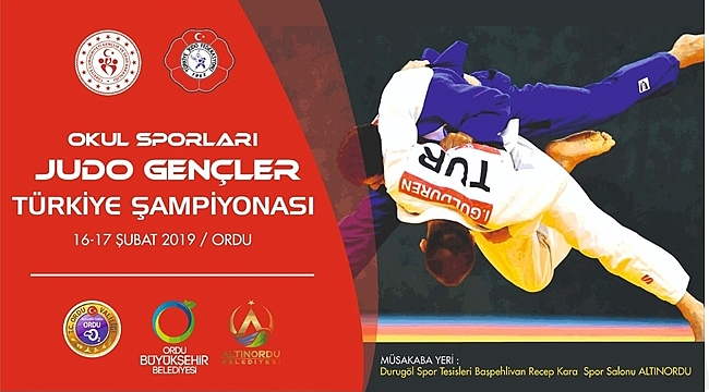 Okul Sporları Türkiye Judo Şampiyonası Ordu'da