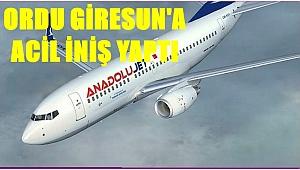 Havada arıza yapan uçak Ordu Giresun'a indi