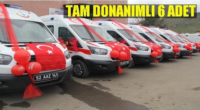 Ordu'da 12 bin 542 kişiye 1 ambulans düşüyor