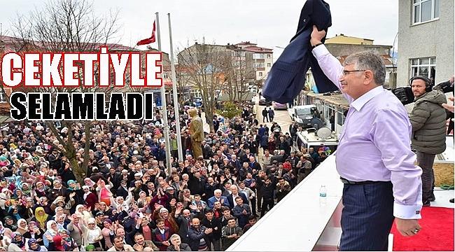 Şahin İlküvez'de mitingde konuştu