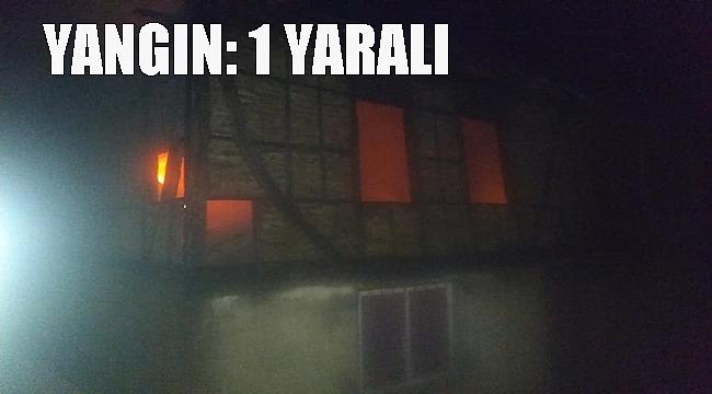 Yangında bir kişi yaralandı