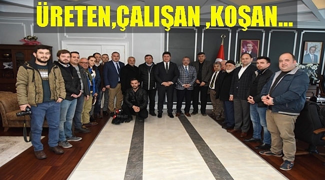 19 Eylül Gazeteciler Derneği'nden Başkan Tören'e ziyaret