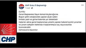 CHP O YORUM SAHİPLERİ HAKKINDA SUÇ DURUYUSUNDA BULUNACAK