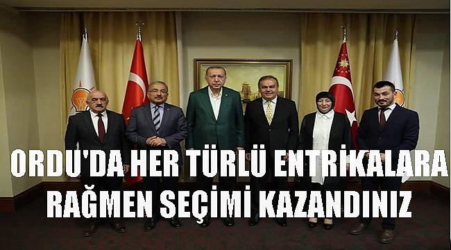 Erdoğan Ordu için konuştu