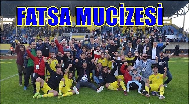 Fatsa Belediyespor ligde kalmak için büyük avantaj elde etti