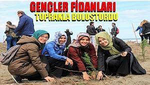 Gençler Hatıra Ormanına Fidan Dikti