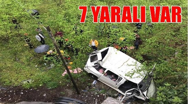 İşçileri taşıyan minibüs kaza yaptı