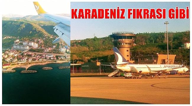 Trabzon Uçakları Ordu-Giresun ve Samsun'a yönlendiriliyor