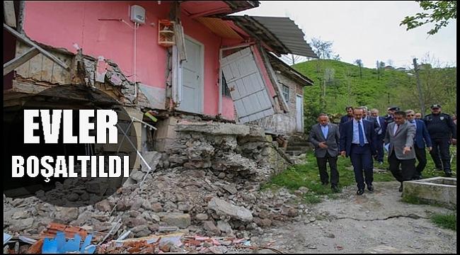Vali Yavuz heyelan bölgesinde