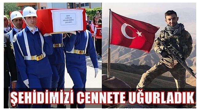 ŞEHİT JANDARMA UZMAN ÇAVUŞ VOLKAN DEMİRCİ SON YOLCULUĞUNA UĞURLANDI