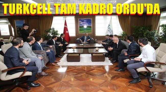 Turkcell üst düzey  yönetiminden Başkan Güler'e hayırlı olsun ziyareti