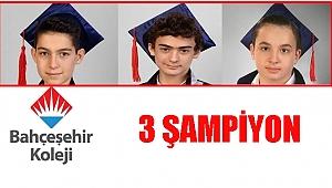 Bahçeşehir Ordu Kampüsü'nden 3 şampiyon çıktı