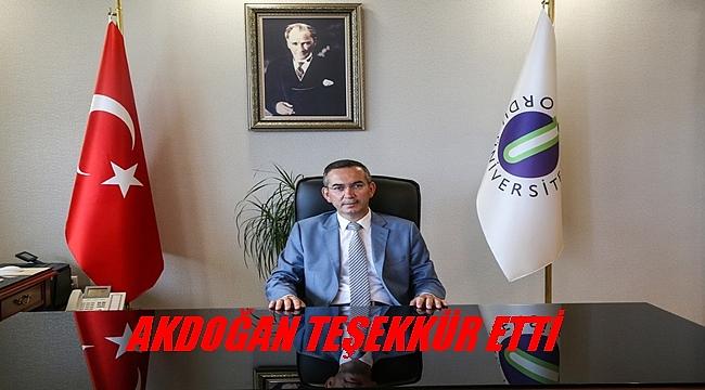 Akdoğan: Ordu Üniversitesi büyük gelişme göstermiştir
