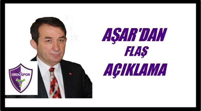 Aşar: Yeni Orduspor'un kapanmaması için aday oldum