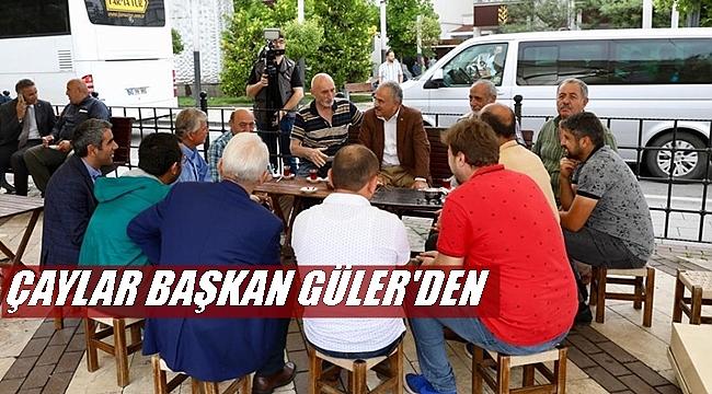 Başkan Güler projelerini halka anlatıyor