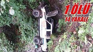 Fındık işçilerini taşıyan kamyonet kaza yaptı
