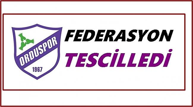 Futbol Federasyon'u Orduspor 1967 ismini tescilledi