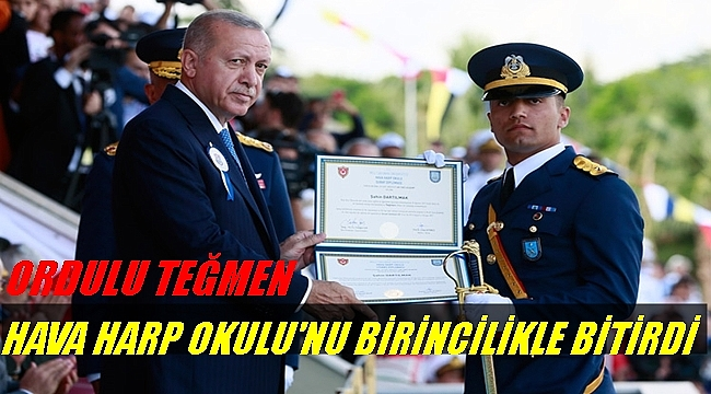 Ordulu Teğmen Diplomasını Cumhurbaşkanı Erdoğan'ın elinden aldı