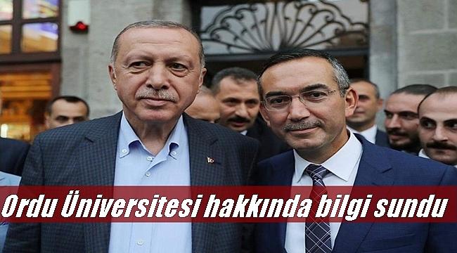 Rektör Akdoğan Cumhurbaşkanı Erdoğan'la görüştü