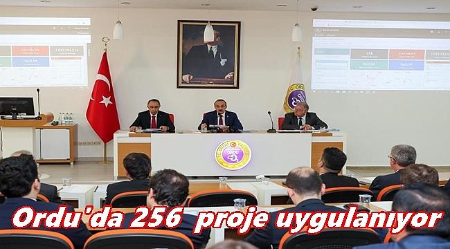 Ordu'da 256 kamu projesi bulunuyor