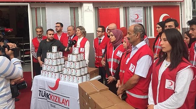 Ordu'da Kızılay 3 bin aileye kıyma dağıtımı yaptı