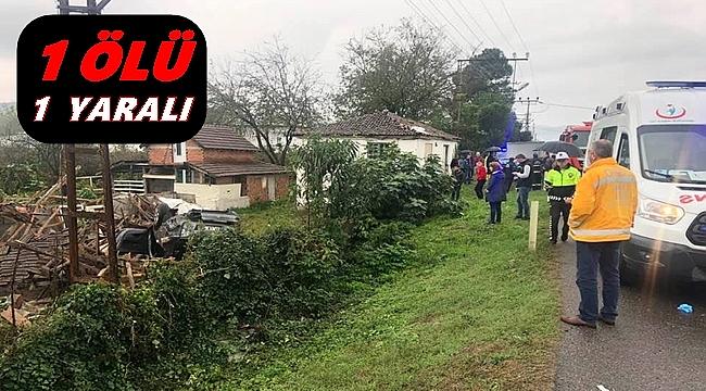 Ordu'da otomobil kontrolden çıktı: 1 ölü 1 yaralı