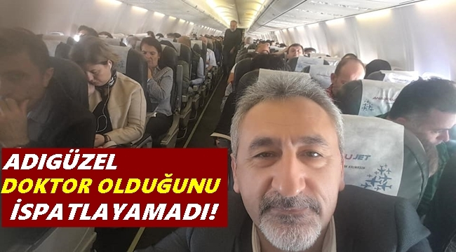 Uçakta rahatsızlanan yolcuya Milletvekili Adıgüzel müdahale etti
